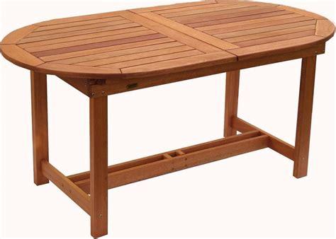 oval wood patio table amazonia arizona 7 wood outdoor dining set with 83