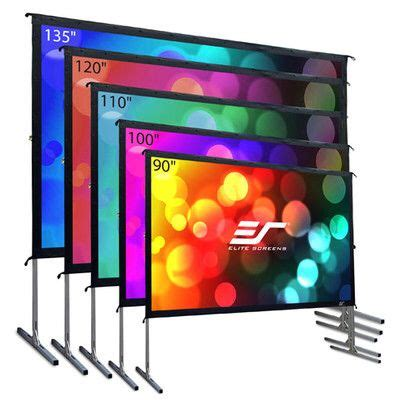 yardmaster white portable projection screen