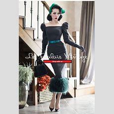 Le Palais Vintage Retro Stitching Woolen Pencil Dress (sizes S, M)  Head To, Pencil Dresses
