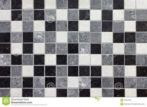 black white and gray mosaic tiles stock illustration