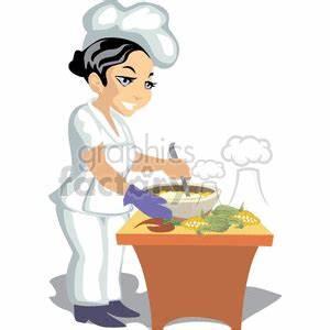 Royalty-Free female chef cooking healthy food 373713 ...