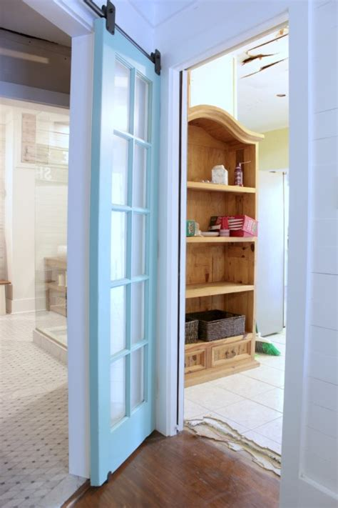 Upcycling Idea  Reclaimed French Doors On Rolling Door
