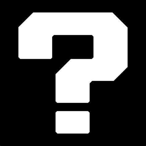 question block l mario mystery block question vinyl sticker wii