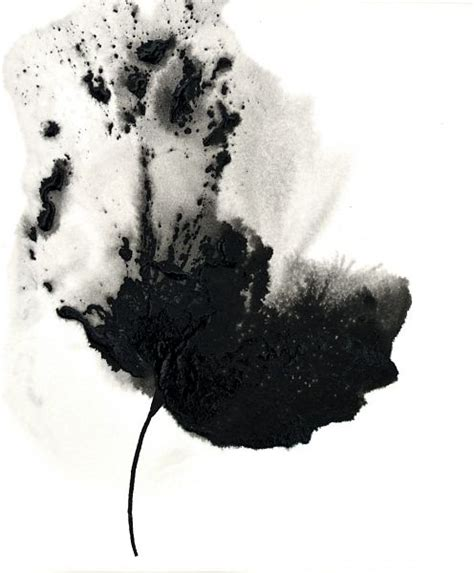 Abstract Black And White Watercolor Painting by Painting Flower Abstract Floral Black White