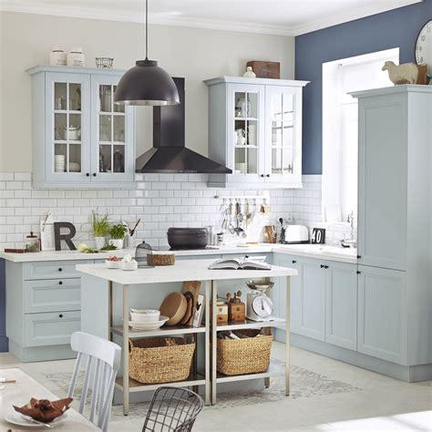 cuisines leroy merlin 3d meuble de cuisine bleu delinia ashford leroy merlin