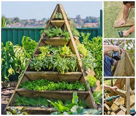 diy vertical pyramid tower raised garden beds