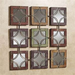 Domini mirrored metal wall art