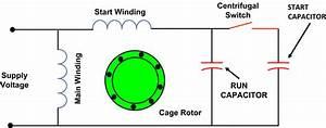 Single Phase Capacitor Run Motor Wiring Diagram