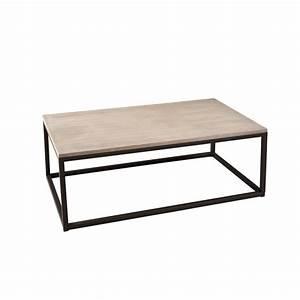 Table Basse Bois Metal : table basse industrielle rectangulaire m tal et bois 115cm lali pier import ~ Teatrodelosmanantiales.com Idées de Décoration