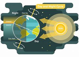24 Hours Day And Night Cycle Vector Diagram Stock Vector