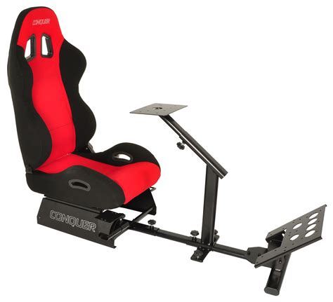 gaming chair ebayca conquer racing simulator cockpit driving gaming seat with