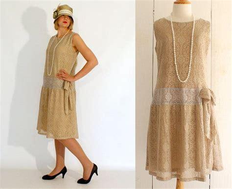Flapper Dress, Great Gatsby Dress, Old Gold 1920s Dress