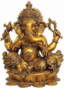Large Lord Ganesh Statue Hindu God Elephant Success Idol