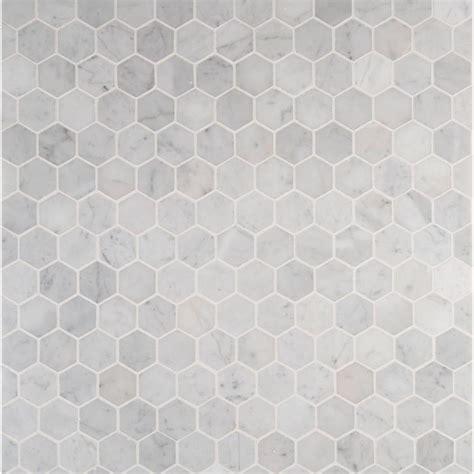 carrara marble hex tile floors ms international carrara white hexagon 12 in x 12 in x