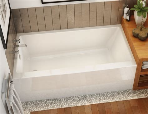 Stone Shower Bases by Rubix 6032 Bathtub With Apron For Alcove Installation