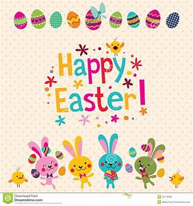 Happy Easter greeting card stock vector. Illustration of ...