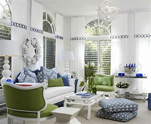 decorating with blue and white With blue and white living room decorating ideas