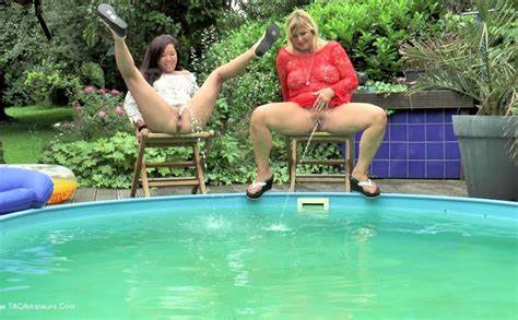 Old Stepmother In Swimming Dogging Trash Exhibitionist Strangers