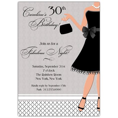 Shower Corners by Little Black Dress Birthday Invitations Paperstyle