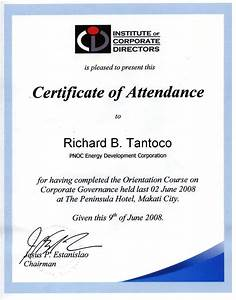 certificate of attendance seminar template - search results for best attendance award template
