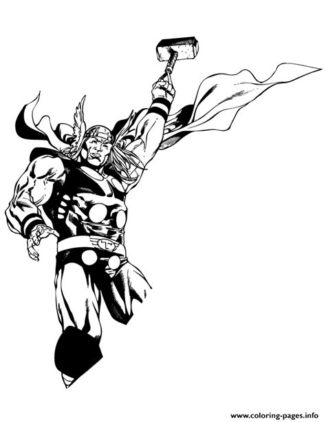marvels thor holding hammer coloring page coloring pages