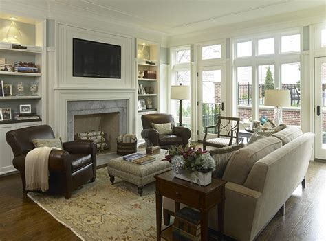 Classy and Neutral Family Room Living room setup