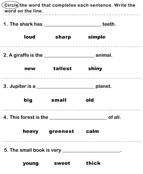 find the correct adjective 4 worksheet turtlediary
