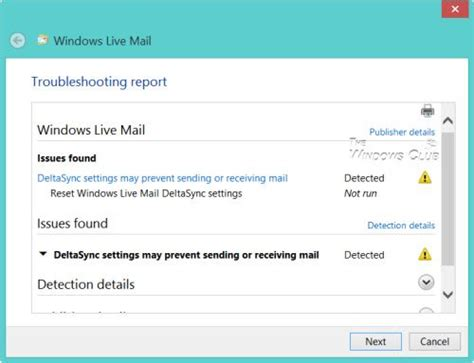 fix windows live mail error 0x8de20003 or server error 3204