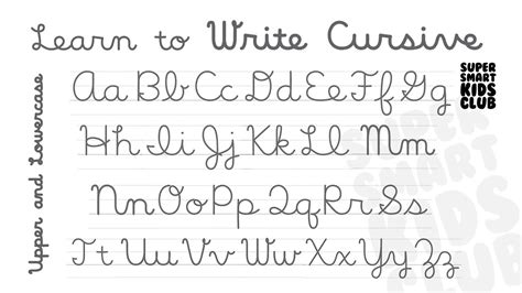 Cursive Letters Lowercase And Capital  Letters Example