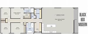 Modern, Rectangular, House, Plans, Homes, Floor