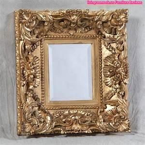 Antique Carved Gold Square Deep Frame Mirror