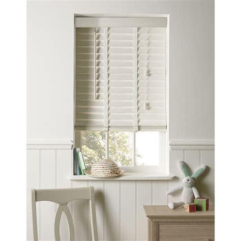 white wood blinds elliott white wooden 50mm venetian blind 120cm at