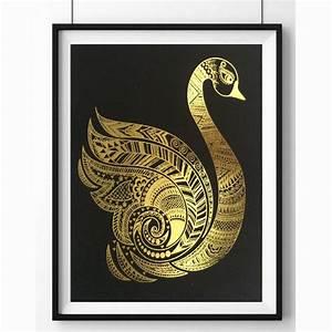 Grace gold foil framed art by palm valley