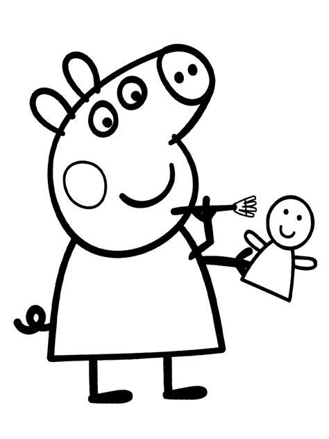 dibujos  colorear peppa pig   desarrollo