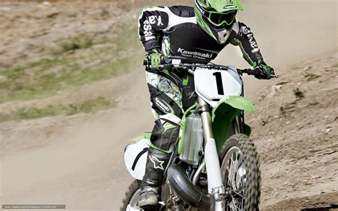 Download Wallpaper Kawasaki, Motocross, Kx250, Kx250 2008