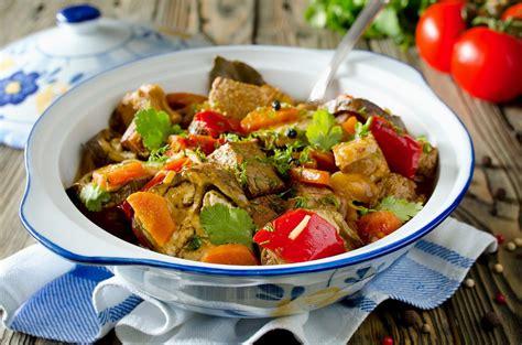 cuisine poivron recette sauté de veau aux poivrons