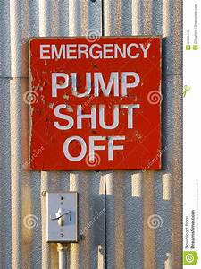 Pump Shut Off Stock Photo  Image Of Warn  Danger  Safety