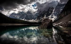 Lake, Wallpaper, Moraine