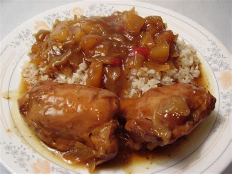 chicken thighs crock pot recipes crock pot chinese chicken with pineapple recipe chinese food com