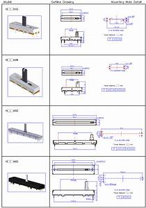 Factory Suppliers 30mm 45mm 60mm 10k Linear Slide