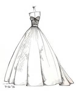 Wedding Dress Drawing Sketch