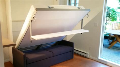 pull out bed murphy bed sofa with floating shelf
