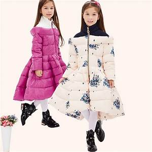 Children's Clothing Girl Winter Coat Causal Duck Down Long ...