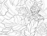 Peony Simple Drawing Coloring Getdrawings sketch template
