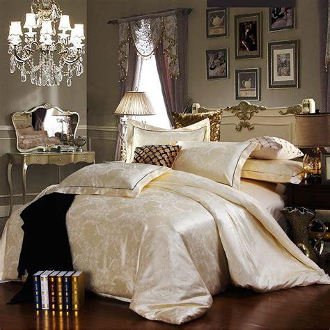 discount luxury tribute silk satin jacquard bedclothes
