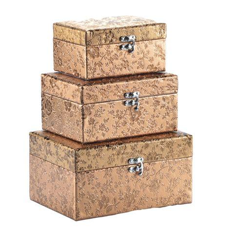 Kleidung Box by Aufbewahrungsbox Mit Deckel Gold Silber Deko Box Kiste