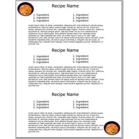 yummy photoshop cookbook templates  downloads