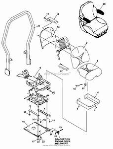 Bunton  Bobcat  Ryan 942221f Zt219 19hp Kai W  52 Side Discharge Parts Diagram For Seat Assembly