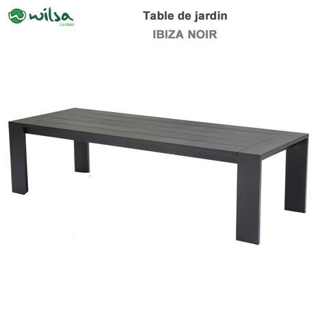Table de jardin Ibiza fixe 8/10 places noir600495 Wilsa Garden*