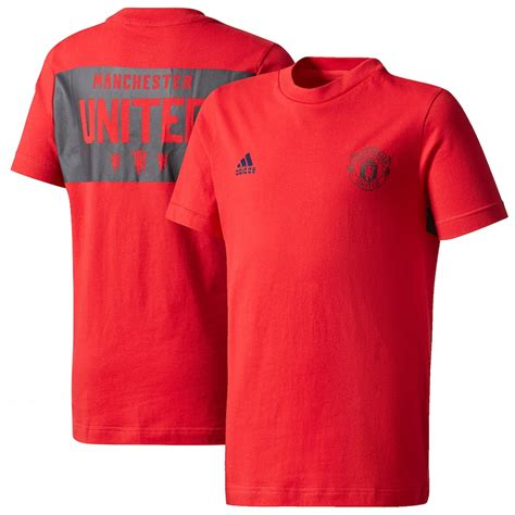 Youth adidas Red Manchester United T-Shirt